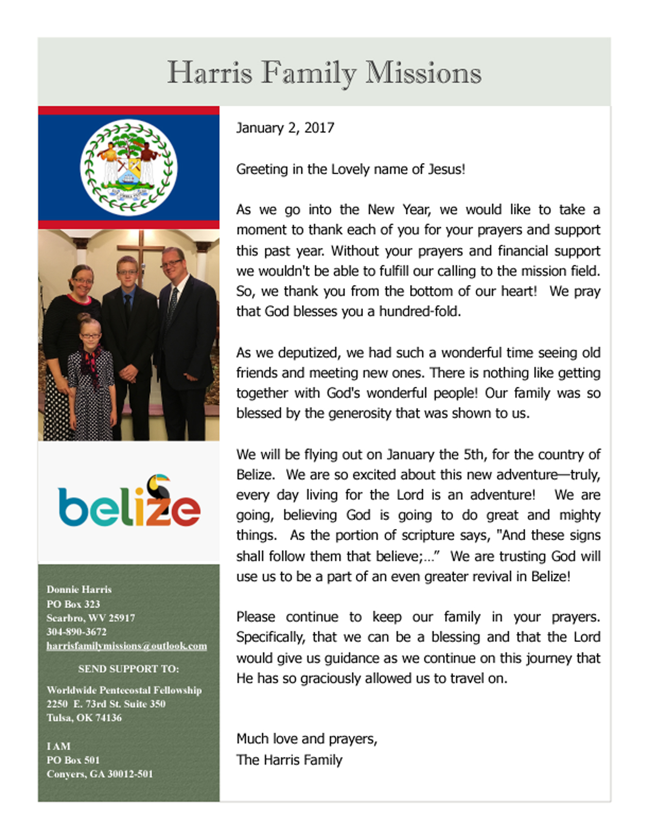 Belize – Missionary Donnie Harris