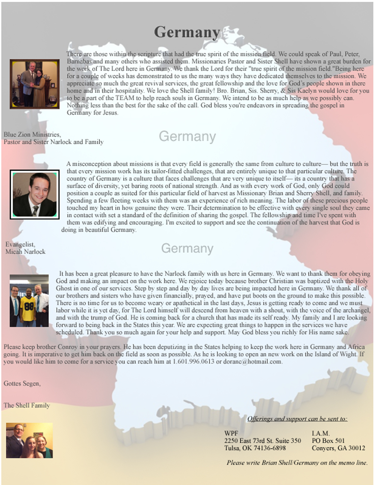 Germany – Missionary Brian Shell