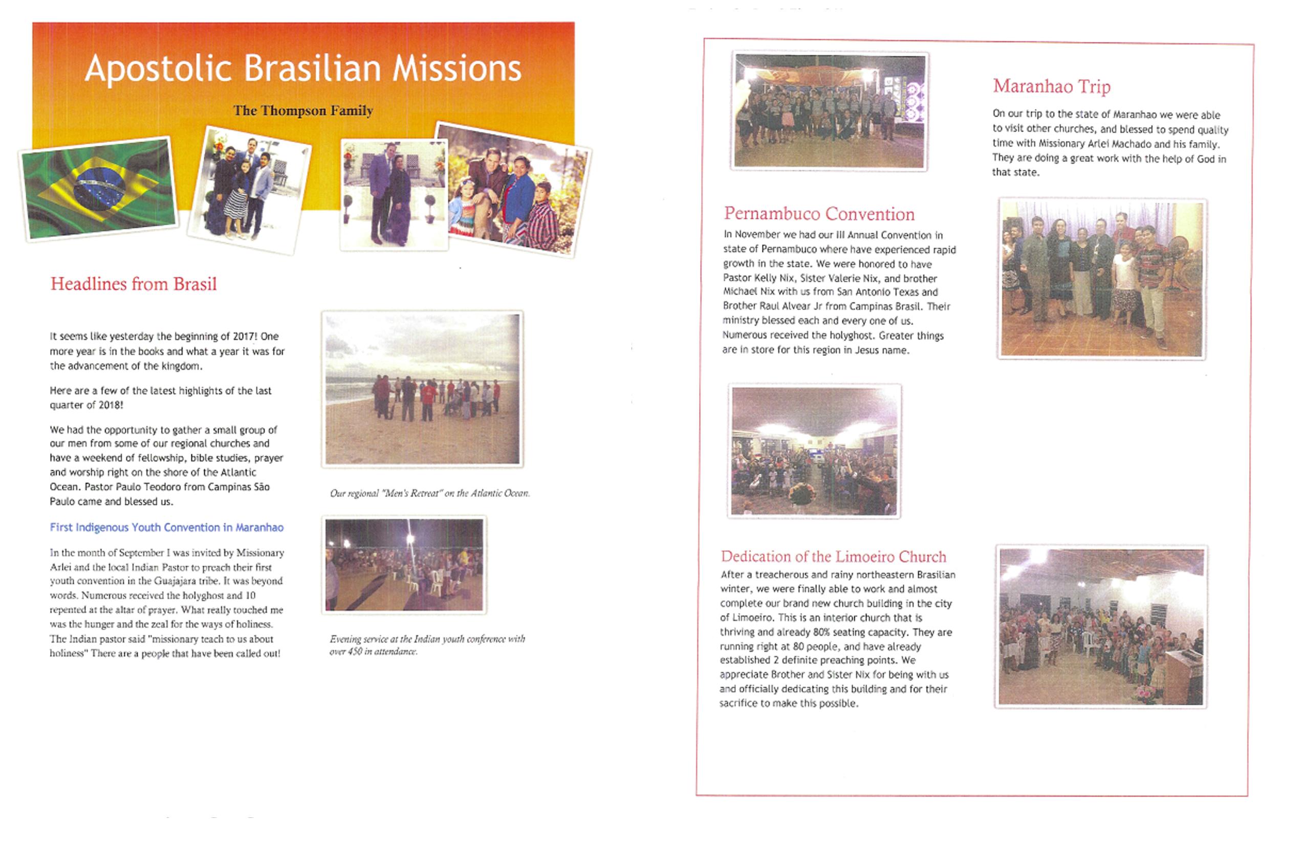 Brazil – Missionary  Ryan Thompson